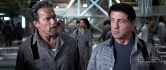 Schwarzenegger und Stallone in ihrem neuen Film
