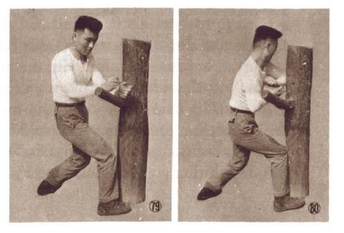 Holzpuppen Training im Karate und anderen Kampfkünsten