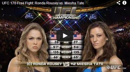 Rousey vs. Tate (UFC 168) komplett kostenlos