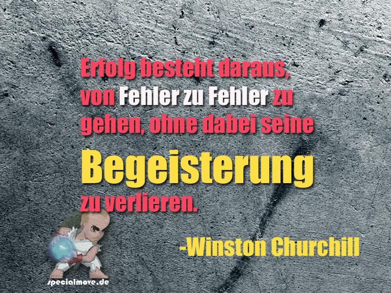 Churchill zu Erfolg und Fehlern